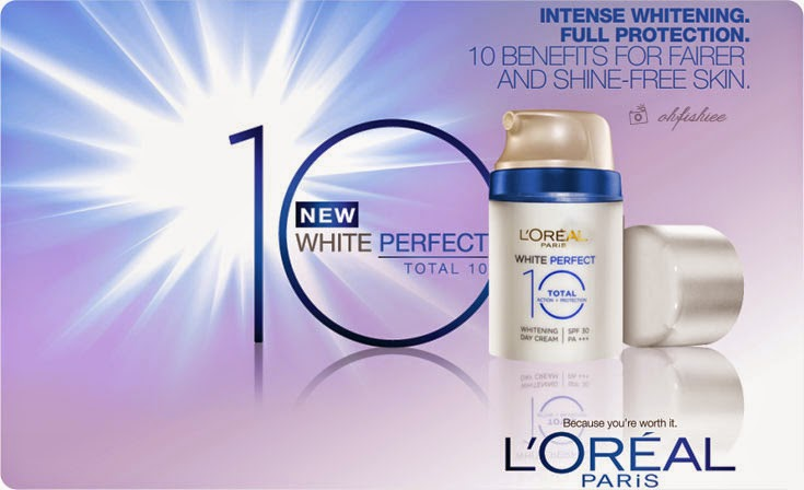 L'Oreal Paris - White Perfect : Total 10 Day Cream SPF30 PA+++ - Thailand Best Selling Products