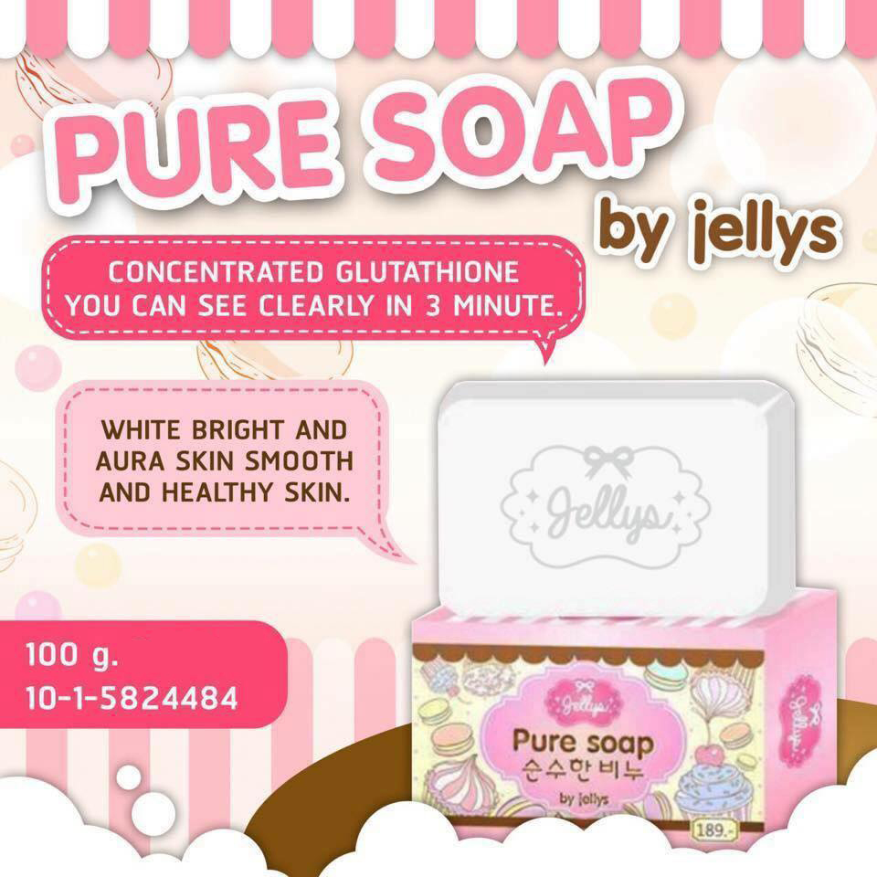 Jellys Pure Soap White Aura Within 3 Minutes Whitening