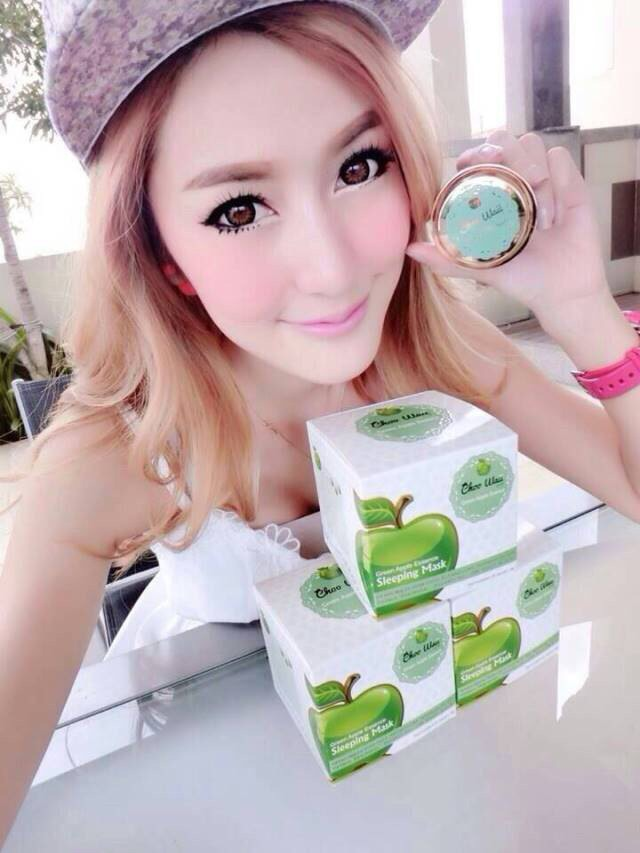 Choo Waii Fresh Green Apple Essence Mask2