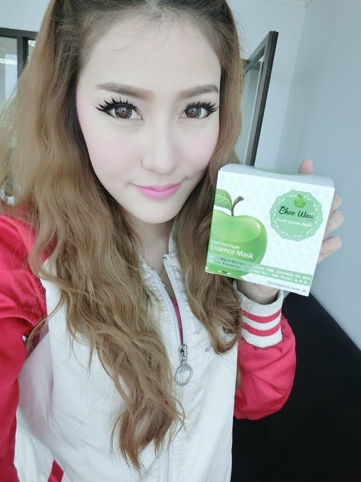 Choo Waii Fresh Green Apple Essence Mask3