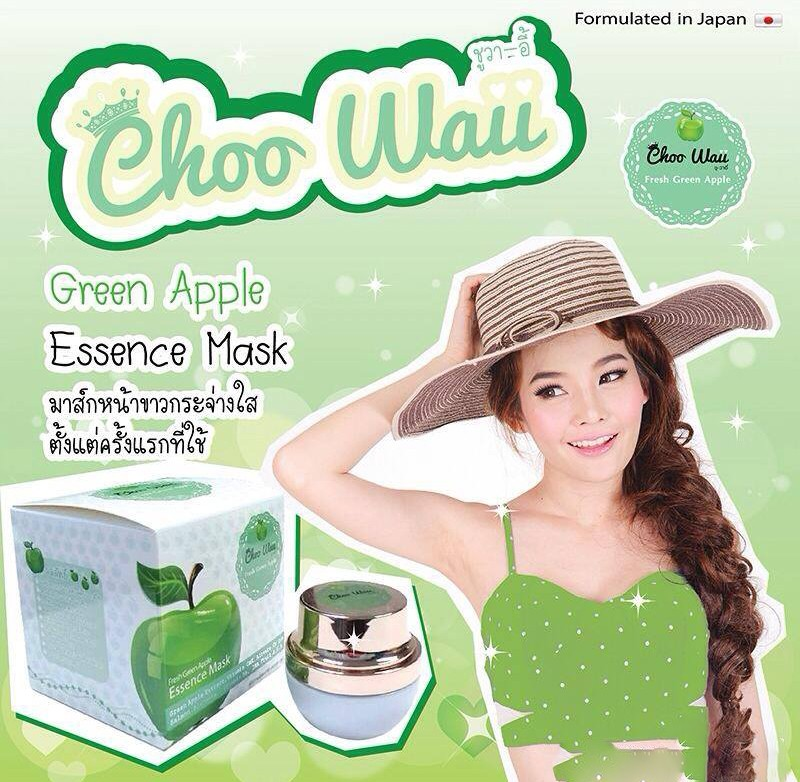 Choo Waii Fresh Green Apple Essence Mask6