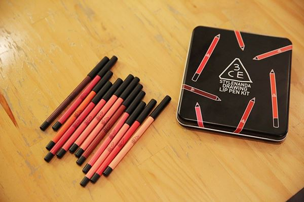 3CE Stylenanda drawing lip pen kit5