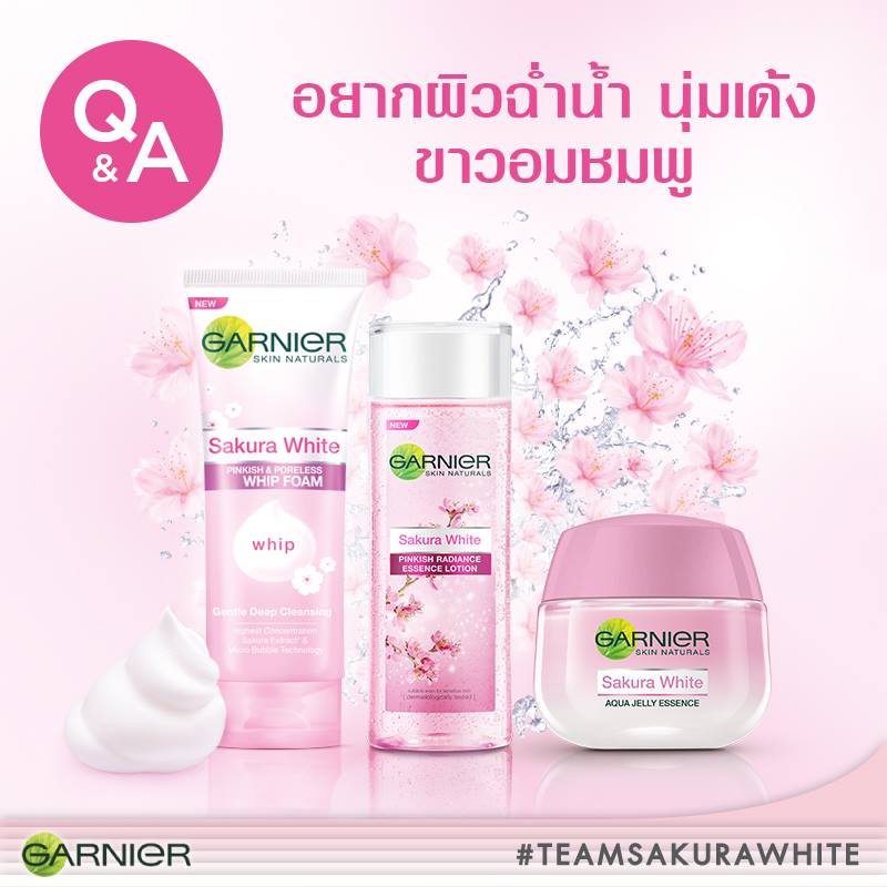 Garnier Sakura White Pinkish & Poreless Whip Foam