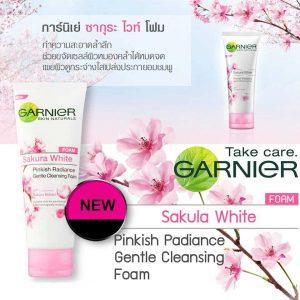Garnier Sakura White Pinkish Radiance Foam