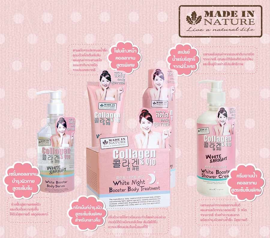 Made In Nature Collagen & Q10 White Booster Shower Cream