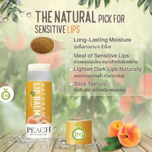 Ira Eco Tube Natural Lip Balm Peach