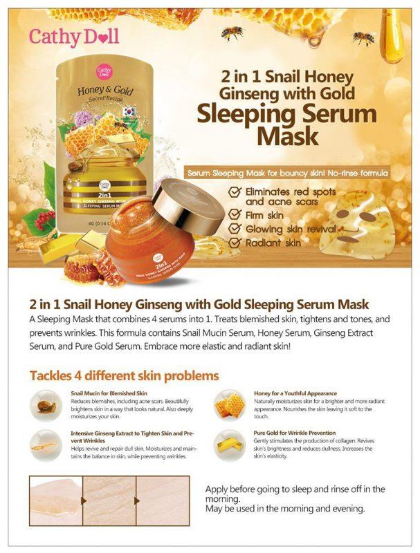 Cathy Doll Secret Recipe 2in1 Snail Honey Ginseng