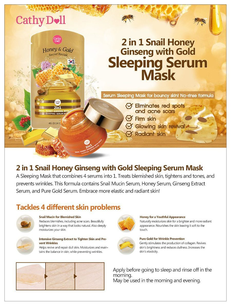 Cathy Doll Secret Recipe 2in1 Snail Honey Ginseng