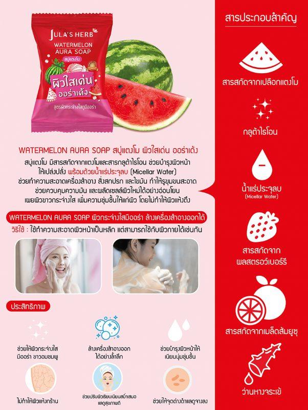 Jula's Herb Watermelon Aura Soap